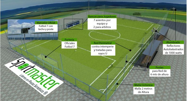 Medidas Cancha de Futbol 7