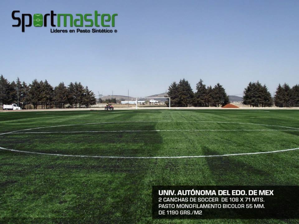 cancha soccer pasto sintetico uaem